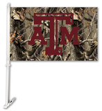 NCAA Texas A&M Aggies Realtree Camo Car Flag with Wall Bracket Flag