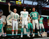 Bob Griese, Ryan Tannehill, & Dan Marino Posed Photo
