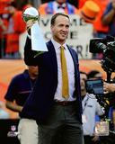 Peyton Manning holds the Vince Lombardi Trophy from Super Bowl 50 Photo
