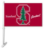 NCAA Stanford Cardinal Car Flag with Wall Bracket Flag