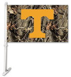 NCAA Tennessee Volunteers Realtree Camo Car Flag with Wall Bracket Flag