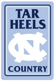 NCAA North Carolina Tar Heels Tin Sign