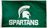 NCAA Michigan State Spartans 2-sided Flag with Grommets Bandera