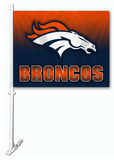 NFL Denver Broncos Car Flag Flag