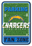 NFL San Diego Chargers Field Zone Parking Sign Wall Sign