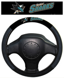 NHL San Jose Sharks Poly-Suede Steering Wheel Cover Auto Accessories