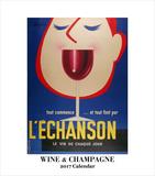 Wine & Champagne- 2017 Easel Calendar Calendars