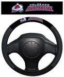NHL Colorado Avalanche Poly-Suede Steering Wheel Cover Auto Accessories