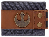 Star Wars Rogue One - Rebel Snap Bi-Fold Wallet with Metal Logo Badge Wallet