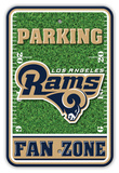 NFL Los Angeles Rams Field Zone Parking Sign Wall Sign