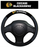 NHL Chicago Blackhawks Poly-Suede Steering Wheel Cover Auto Accessories