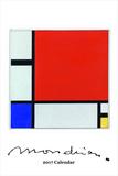 Mondrian Calendar - 2017 Calendar Calendars