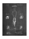 Large Filament Light Bulb Patent Art by Cole Borders