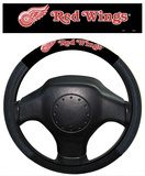 NHL Detroit Red Wings Poly-Suede Steering Wheel Cover Auto Accessories