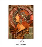 Alphonse Mucha- 2017 Easel Calendar Calendars