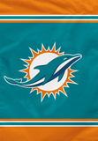 NFL Miami Dolphins House Banner Flag