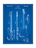 Fender Precision Bass Guitar Patent Prints by Cole Borders