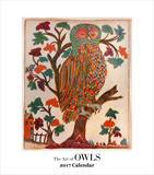 The Art of Owls- 2017 Easel Calendar Calendars