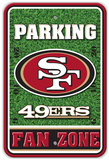 NFL San Francisco 49ers Field Zone Parking Sign Wall Sign