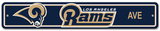 NFL Los Angeles Rams Street Sign Wall Sign