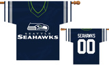 NFL Seattle Seahawks 2-Sided Jersey Banner Flag