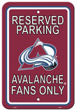 NHL Colorado Avalanche Parking Sign Wall Sign