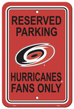 NHL Carolina Hurricanes Parking Sign Wall Sign