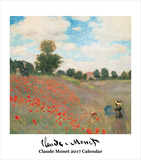 Claude Monet- 2017 Easel Calendar Calendars