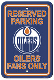 NHL Edmonton Oilers Parking Sign Wall Sign
