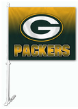 NFL Green Bay Packers Car Flag Bandera