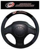 NHL Carolina Hurricanes Poly-Suede Steering Wheel Cover Auto Accessories
