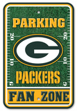 NFL Green Bay Packers Field Zone Parking Sign Wall Sign