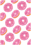 Pink Frosted Donut Storm Poster
