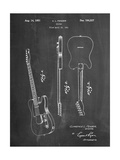 Fender Broadcaster Electric Guitar Patent Art by Cole Borders