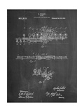 Flute 1908 Patent Posters by Cole Borders
