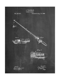 Fishing Rod and Reel 1884 Patent Print by Cole Borders