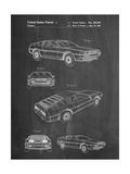Delorean Patent Posters by Cole Borders