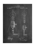T. A. Edison Light Bulb and Holder Patent Art Print by Cole Borders