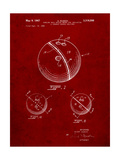 Bowling Ball 1967 Patent Print by Cole Borders