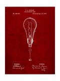 Edison Light Bulb 1890 Patent Art by Cole Borders