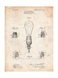 Large Filament Light Bulb Patent Prints by Cole Borders