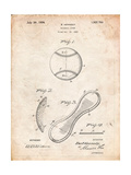 Baseball Patent 1923 Art by Cole Borders