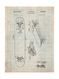 Vintage Skateboard Patent Prints by Cole Borders
