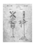 Railroad Crossing Signal Patent Posters by Cole Borders