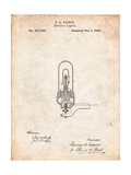 Thomas Edison Light Bulb Patent Print by Cole Borders