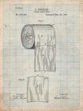 Toilet Paper Patent Prints by Cole Borders