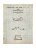 1964 Porsche 911 Patent Posters by Cole Borders