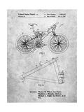 Mountain Bike Patent Art Prints by Cole Borders