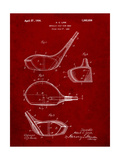Golf Club Driver Patent Prints by Cole Borders