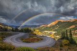 Red Mountain Rainbow Photographic Print by  Darren White Photography